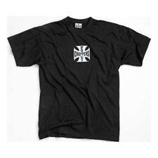 West Coast Choppers Original Cross T-Shirt In Black/White Logo **BRAND NEW**