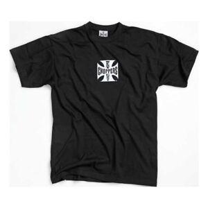 West Coast Choppers Original Cross TShirt In Black/White Logo **IN STOCK**