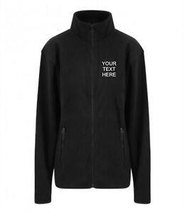 Custom Personalised Fleece Jacket Work Wear Embroidered TEXT / Simple Logo