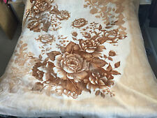 Acrylic Floral Bed Blankets
