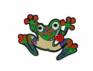 Patch backpack frog prince sign hippie applique badge frogs iron on / sew