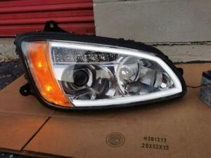 2008-2018 Kenworth T-660 Chrome Headlight w/ LED Halogen Right Passenger Side