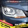 Para montaje de VW Sharan faros Bi-Xenon lente doble de viga KIT HID 2012-2018