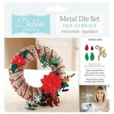 Crafters Companion Debbie Shore Fabric Dies Poinsettia Appliqué