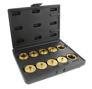 DCT Brass Router Template Guides Bushing & Lock Nuts 10-Piece Guide Bushings Set