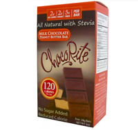 Keto Chocolate: 5 ChocoRite Milk Chocolate Peanut Butter Bars low carb (2 carbs)