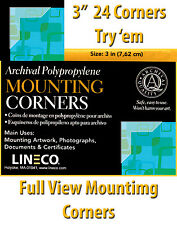 Lineco Full View Corners 24 pcs., Size: 3 in. Mount photos EZ  (bin805-A)
