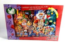 Serendipity Christmas Eve Jigsaw Puzzle 399 Pc Bill Bell Santa Holiday Toys New