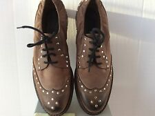 MARNI Studded Oxford Shoes Size 39.5 fits US size 8.5 - 9 Leather Lace-up Italy