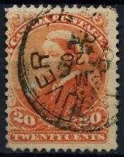 COLONIA del Canada 1893 sg#115, 20c vermiglio QV USATO #d37361