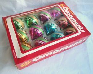 Boxed Set Vintage Swan Shatterproof Ornaments Baubles Deco Bell DB/30