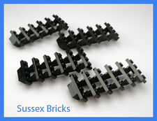 Lego - 4 x Black Staircase Stairs - 7x4x6 Steps 30134 Castle Brand New Pieces
