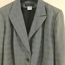 NEW Harve Bernard Woman sz. 24W  Jacket Blazer Plaid  gray 1 button
