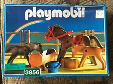 Playmobil 3856 Horse, Foals & Corral farm series rare mint in Box for collectors