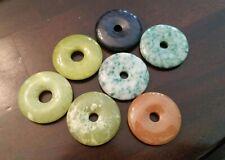 Semi-precious Gemstone DONUT Pendants - 40mm Each - CHOOSE Stone and Quantity