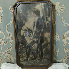 Vintage Antique Sir Galahad Framed Print George Frederick Watts Knight And Horse