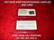 Vietnam War Original Propaganda Leaflet # Sp-2209 Free Same Day Shipping