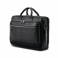 Samsonite Classic Leather Toploader Briefcase Black 126039-1041
