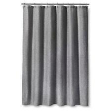 Threshold Heathered Gray Grey Waffle Weave Shower Curtain 72 x 72 New