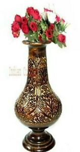 Handicarfted Wooden Flower Vase wooden flower Pot for Home Decorative Items Wood
