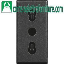 BTICINO AXOLUTE antracite presa bipasso 10/16A HS4180