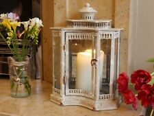 Antico Francese da giardino Lampada Uragano Lanterna Pilastro PORTACANDELE CON SPECCHIO