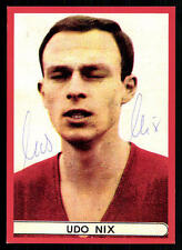 Udo Nix Autogrammkarte Hannover 96  Spieler 60er Jahre Original Signiert