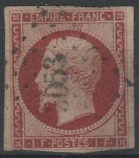 "FRANCE STAMP TIMBRE N° 18 a "" NAPOLEON III 1F CARMIN FONCE"" OBLITERE A VOIR K576"