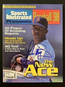 Pedro Martinez Signed Sports Illustrated 3/11/98 No Label Sox Baseball Auto JSA