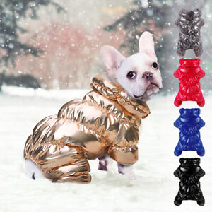 Boston Terrier Clothes for Dogs Winter Fleece Padded Coat Pet Jacket Jumpsuit US