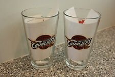 2 CLEVELAND CAVALIERS LABATT BLUE BEER GLASSES 16 OZ NEW FATHER'S DAY FREE SHPG!