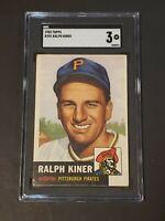 1953 Topps #191 Ralph Kiner SGC 3 Beauty! New Label Recently Graded PSA BVS