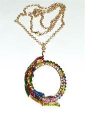 CG3110 Chapado en Oro & Esmalte Collar Pavo Real