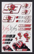 Marc Marquez 93 motorcycle car decals 18 stickers set MotoGP honda Laminated