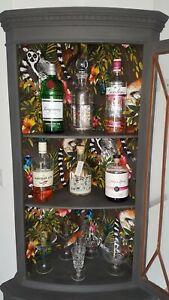 Bespoke Up-cycled - Drinks/Cocktails Cabinet - Gin Bar - Glazed Corner Unit