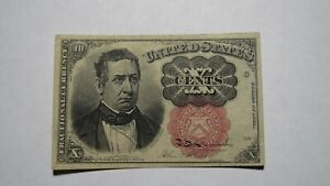 1874 $.10 Fifth Issue Fractional Currency Obsolete Bank Note Bill! 5th VF++