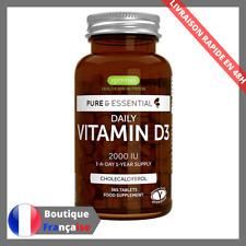 Vitamine D3 Pure & Essential Au Quotidien 2000iu Cholécalciférol Végétarien 365