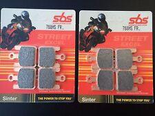 2x SBS 788HS - Metal Sinterizado pastillas freno Kawasaki zx-10r, zx10r, 04-07,
