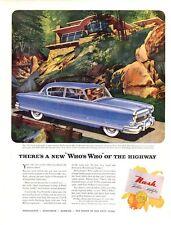 1952 Nash Ambassador Meditarranian Blue PRINT AD