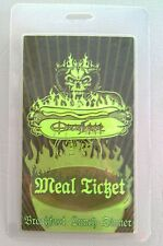2007 OZZFEST LAMINATED UNUSED MEAL TICKET OZZY OSBOURNE