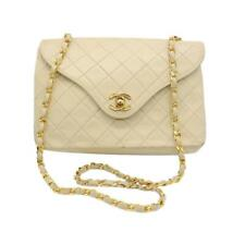 Chanel Classic Twist Flap Vintage Lock Beige Leather Shoulder Bag