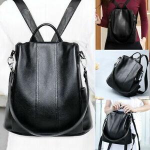 Women's PU Leather Backpack Anti-Theft Rucksack Large School Travel Shoulder Bag