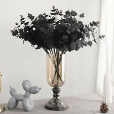 Artificial Flower Eucalyptus Type Black 20 Heads Wedding Party Decoration US