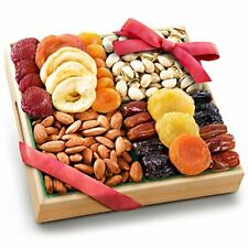 Pacific Coast Classic Dried Fruit Tray Gift with Almonds and Pistachios for H.