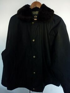 Alpha Industries Flying Suit WEP Jacket Black Jacket Size Large L