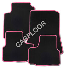 Für Mitsubishi Space Star Bj. ab 3.2013 Fußmatten Velours schwarz mit Rand pink