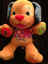 Fisher Price Plush Interactive Puppy Dog Talks Musical Sings Laugh & Learn 14""