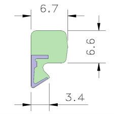 AQUAMAC 63 Draught Strip Seal - 63W White (3.5mm - 5.4mm) 1m