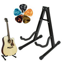 Foldable Guitar Stand Holder for Acoustic Classical Guitar with Picks by Kmise