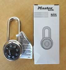 NEW Master Lock Pad Lock - Silver with Black Face